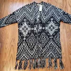 New! BOHO Sweater, Hollister, fringe